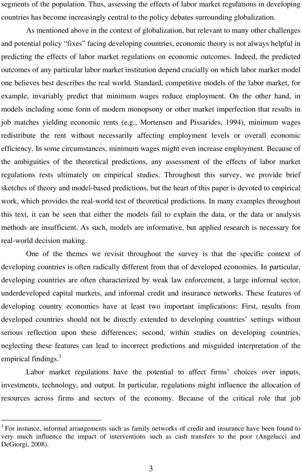 importance of informal sector in developing countries