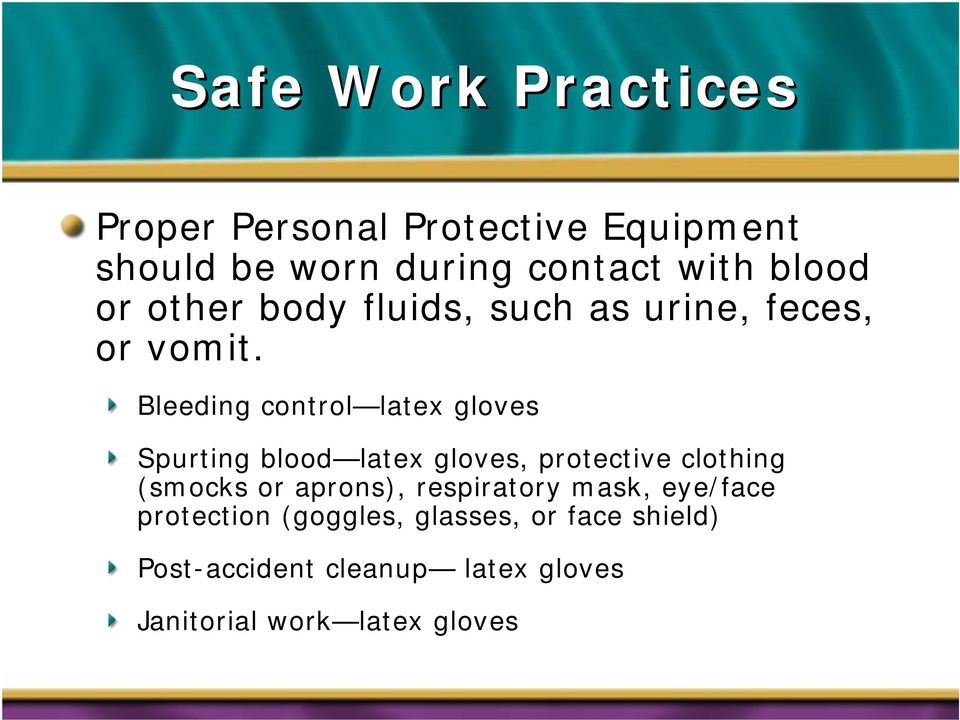 Bleeding control latex gloves Spurting blood latex gloves, protective clothing (smocks or