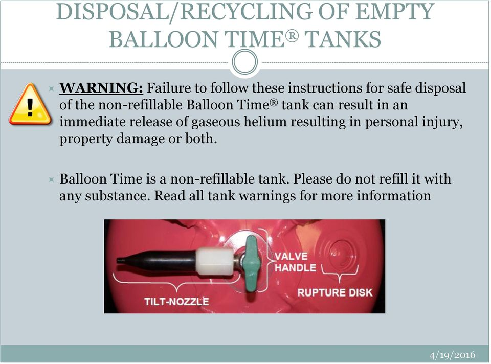 UNIVERSITY AT ALBANY HOW TO RECYCLE EMPTY BALLOON TIME