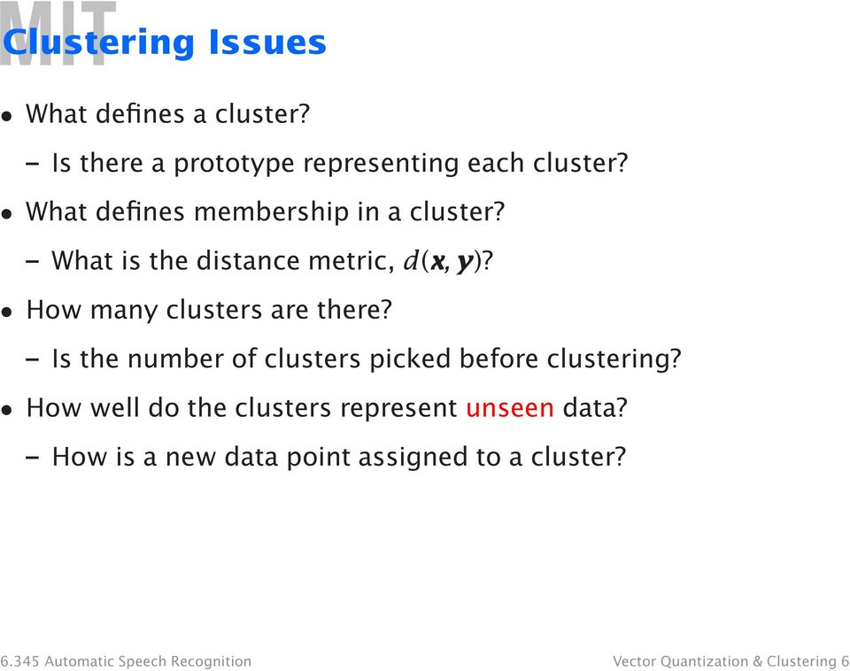 How many clusters are there? Is the number of clusters picked before clustering?