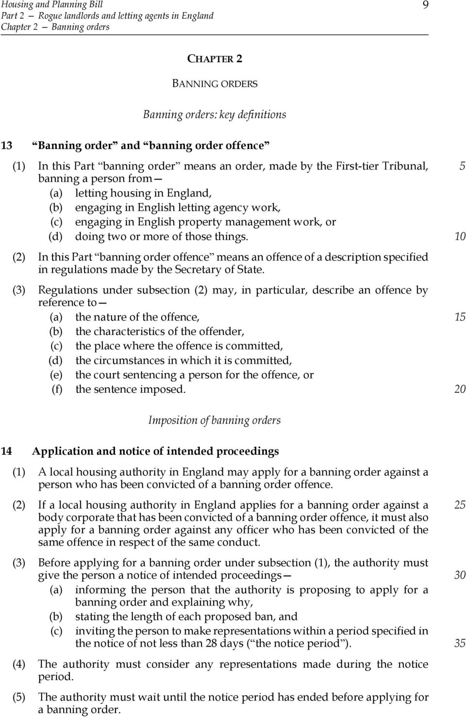 management work, or (d) doing two or more of those things. (2) In this Part banning order offence means an offence of a description specified in regulations made by the Secretary of State.