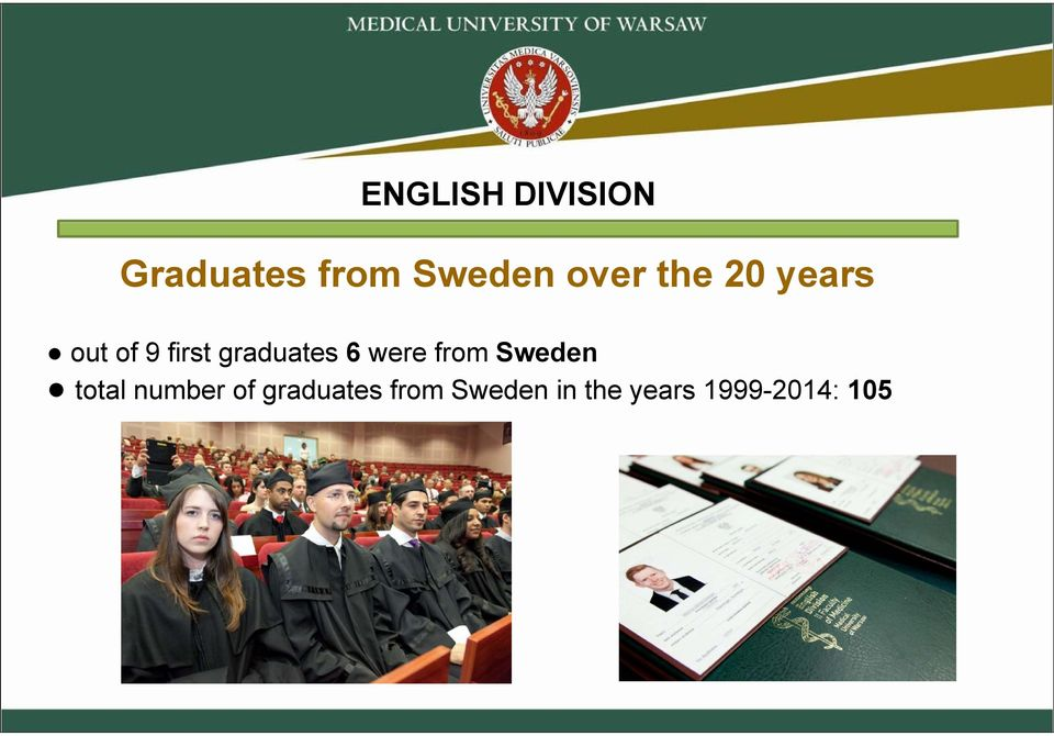 graduates 6 were from Sweden total number