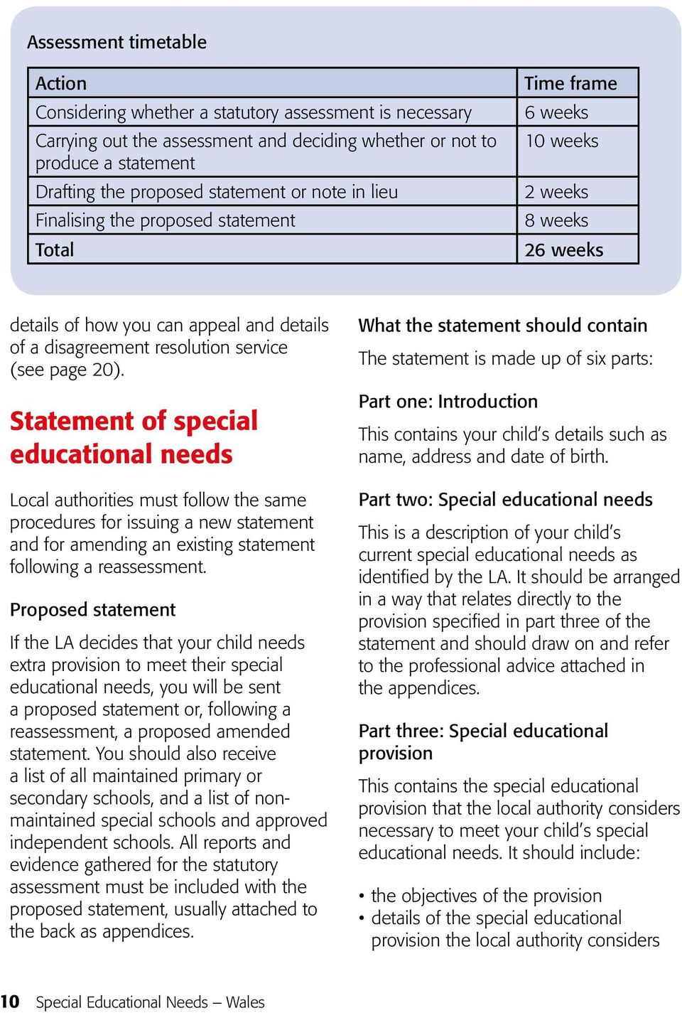 Statement of special educational needs Local authorities must follow the same procedures for issuing a new statement and for amending an existing statement following a reassessment.