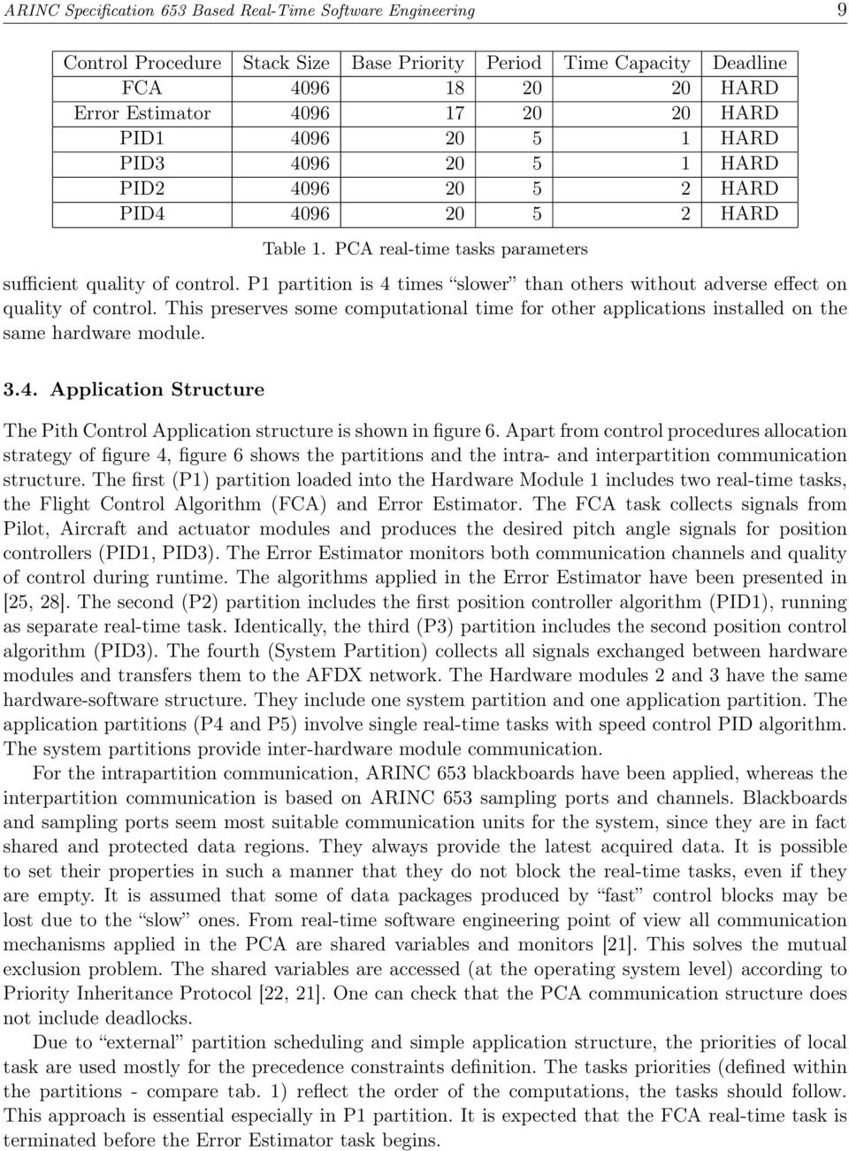P partition is 4 times slower than others without adverse effect on quality of control. This preserves some computational time for other applications installed on the same hardware module. 3.4. Application Structure The Pith Control Application structure is shown in figure 6.