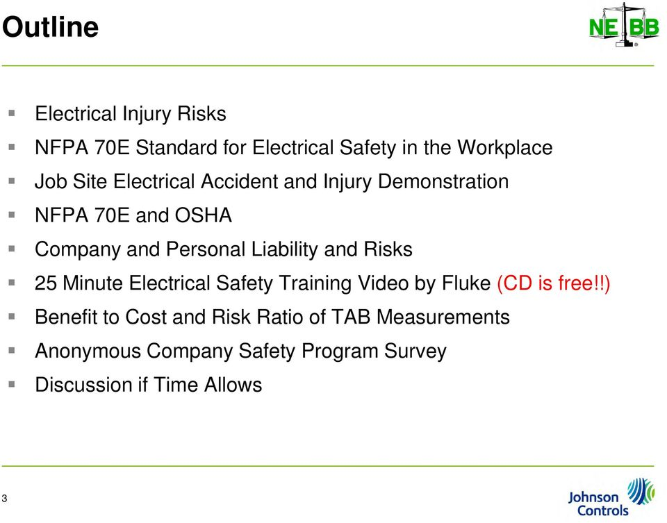 Liability and Risks 25 Minute Electrical Safety Training Video by Fluke (CD is free!
