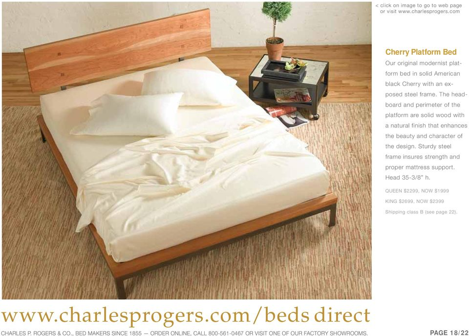 Sturdy steel frame insures strength and proper mattress support. Head 35-3/8 h.