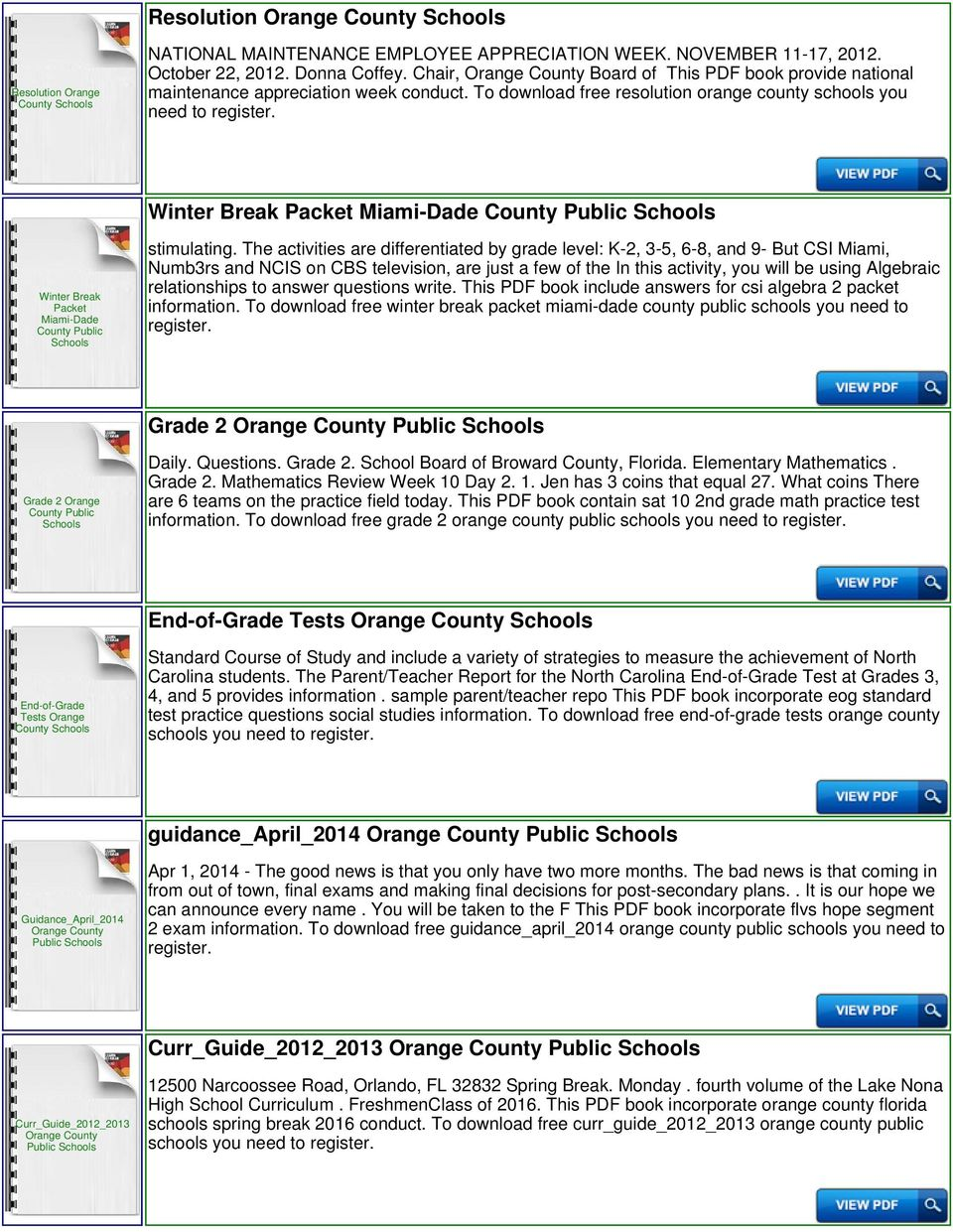 To download free resolution orange county schools you need to Winter Break Packet Miami-Dade County Winter Break Packet Miami-Dade stimulating.