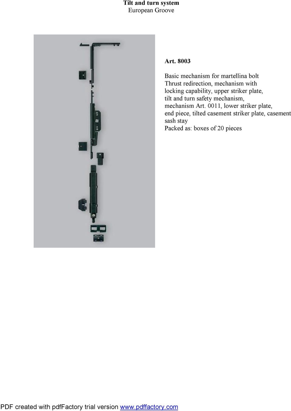 locking capability, upper striker plate, tilt and turn safety mechanism,