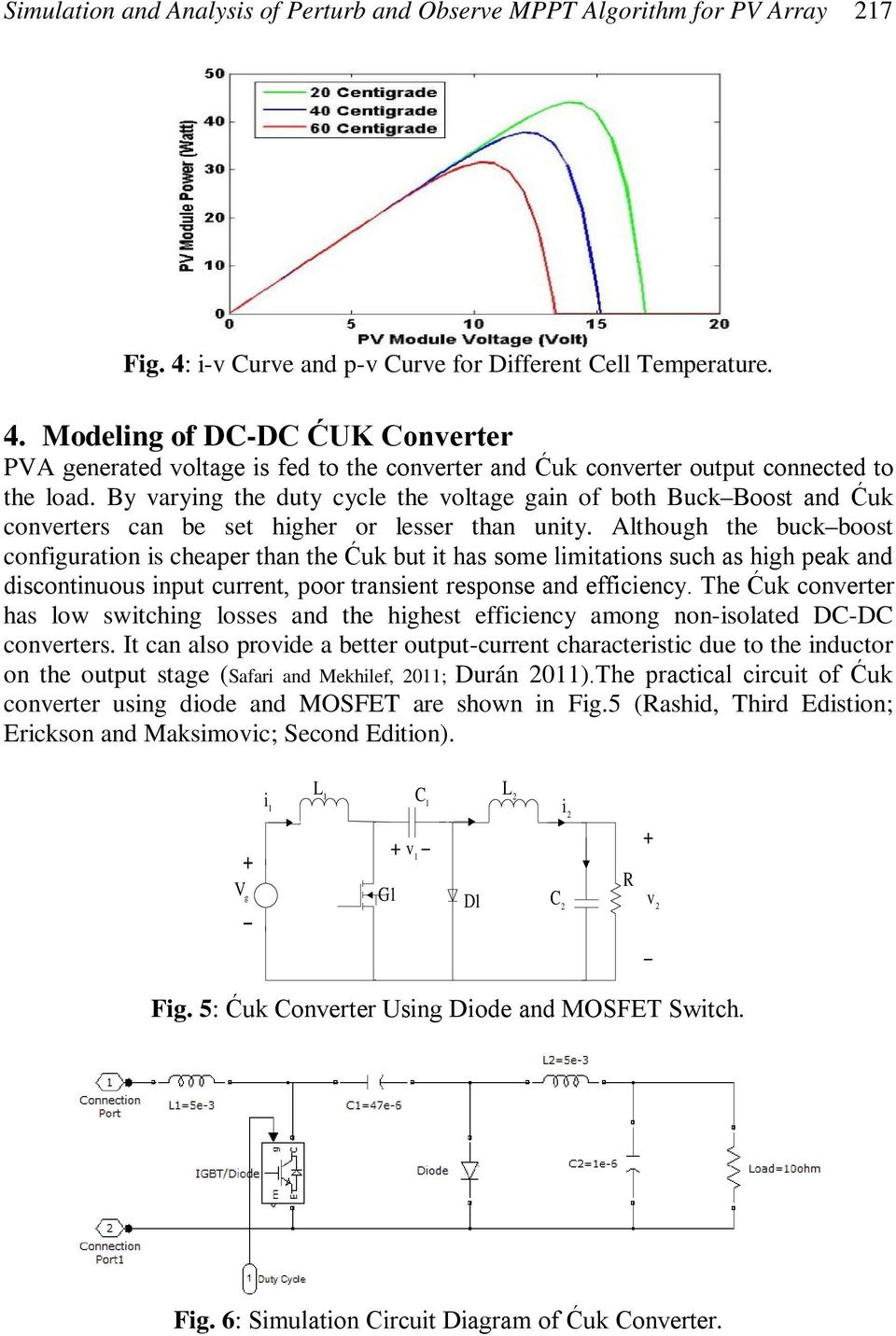 By varying the duty cycle the voltage gain of both Buck Boost and Ćuk converters can be set higher or lesser than unity.