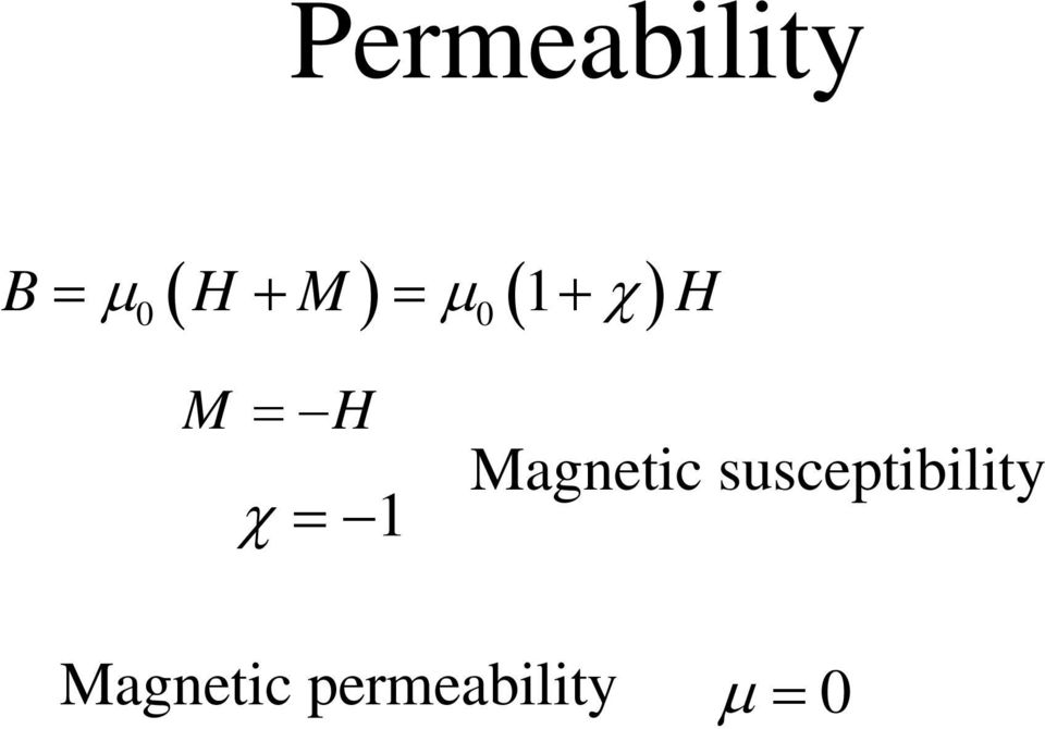 = 1 Magnetic susceptibility