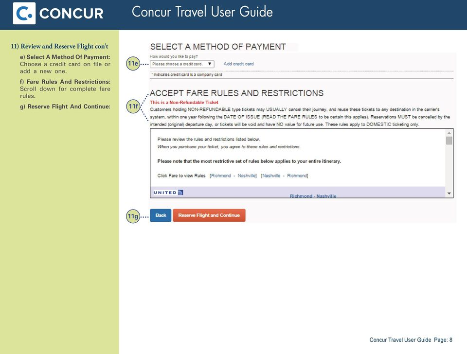 f) Fare Rules And Restrictions: Scroll down for complete fare
