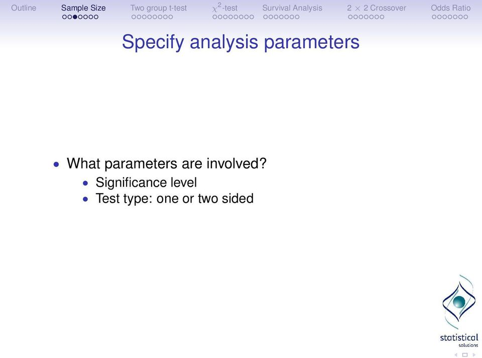 parameters are involved?