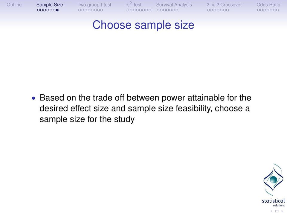 desired effect size and sample size