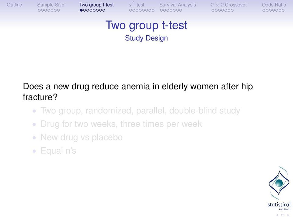 Two group, randomized, parallel, double-blind study