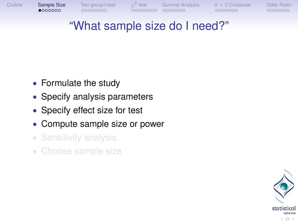 parameters Specify effect size for test