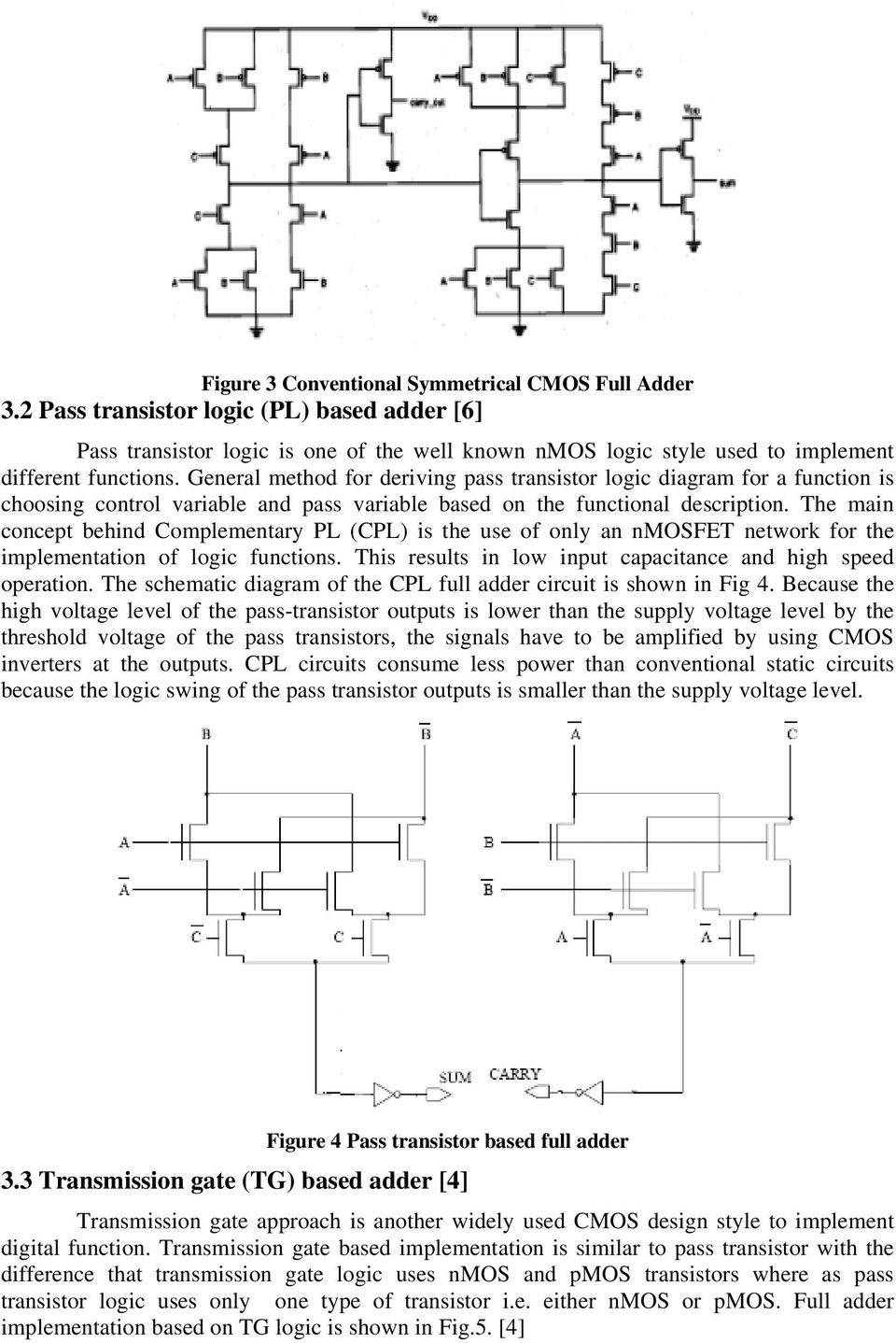 Power Comparison Of Cmos And Adiabatic Full Adder Circuits Pdf Diagram The Main Concept Behind Complementary Pl Cpl Is Use Only An Nmosfet