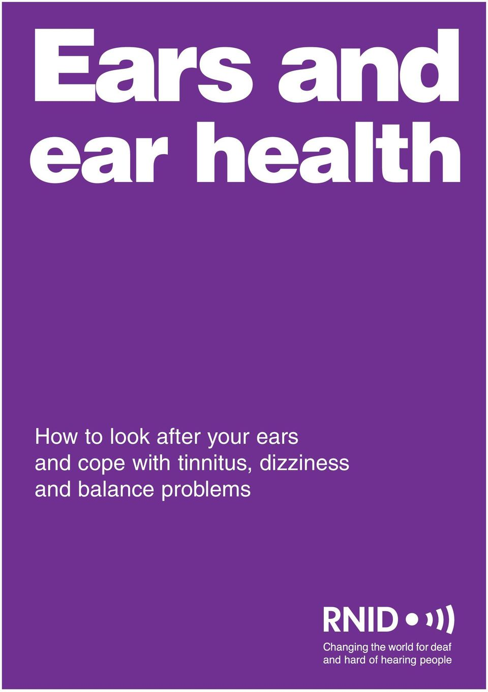 and cope with tinnitus,