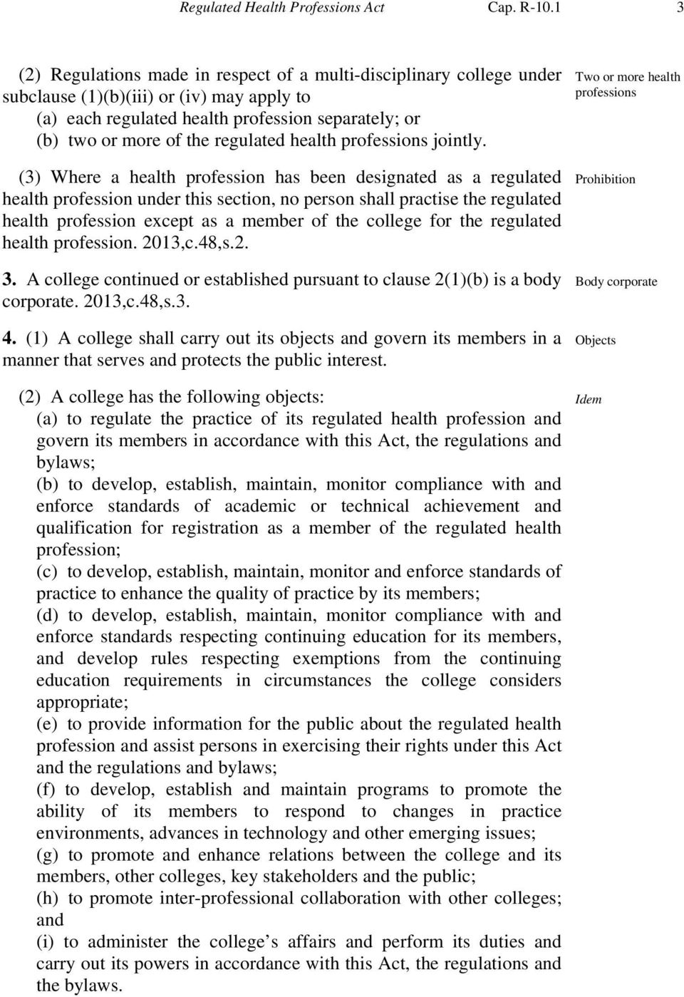 regulated health professions jointly.
