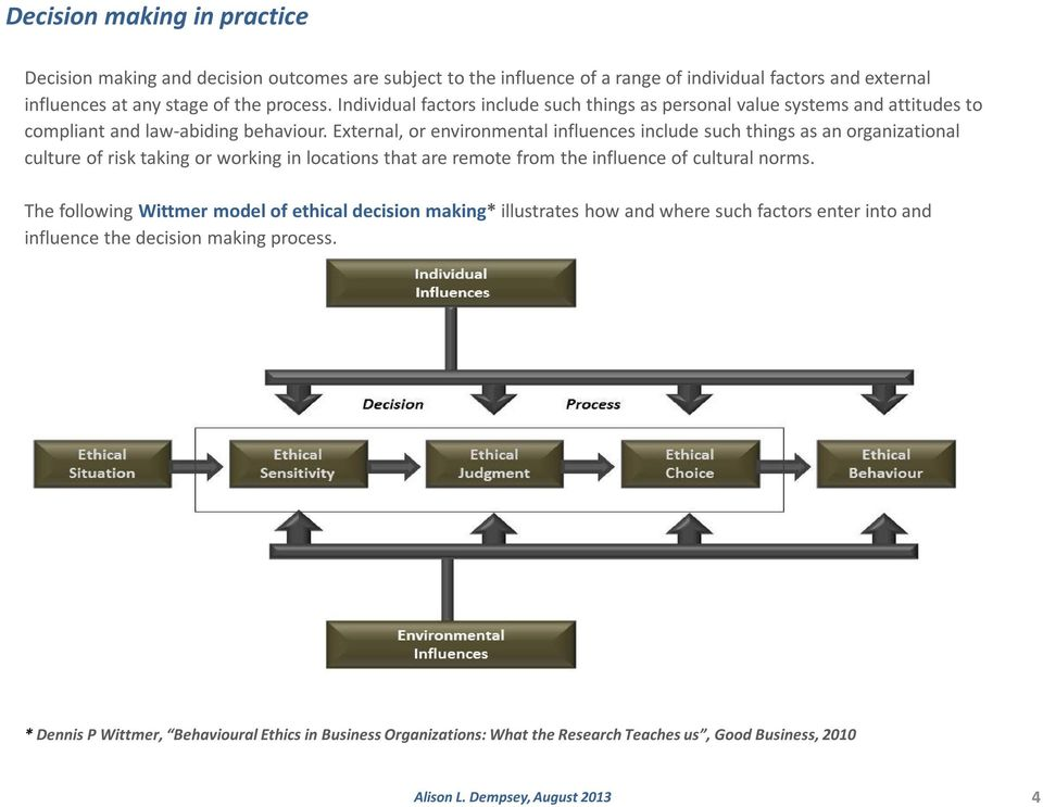 Approaches to Ethical Decision Making Association of