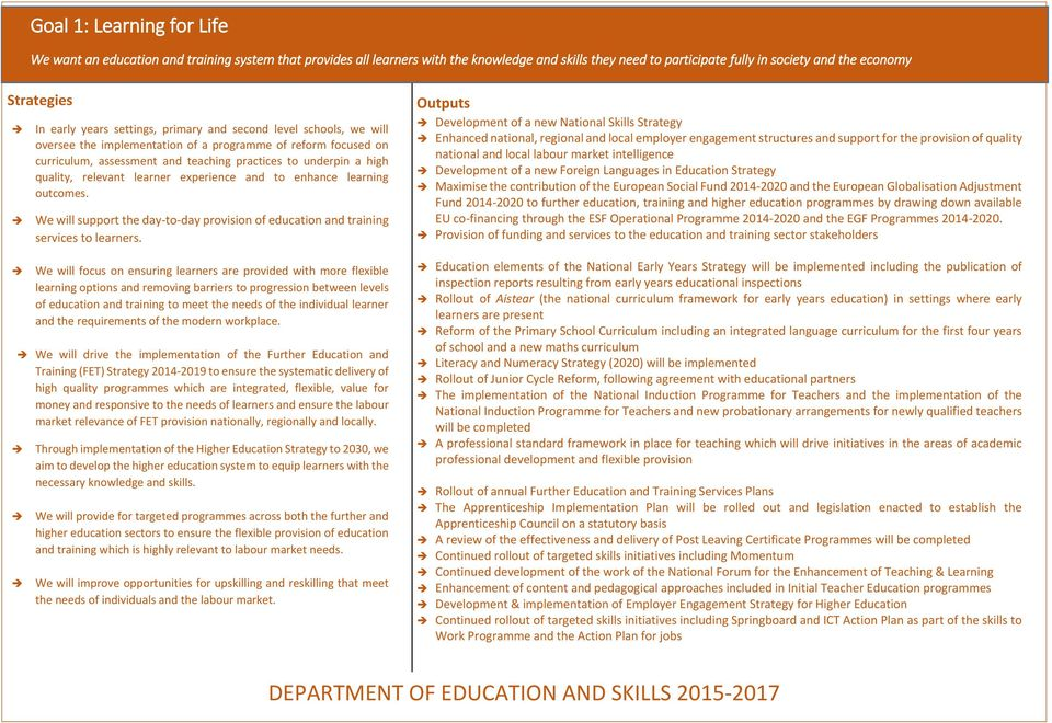 quality, relevant learner experience and to enhance learning outcomes. We will support the day-to-day provision of education and training services to learners.