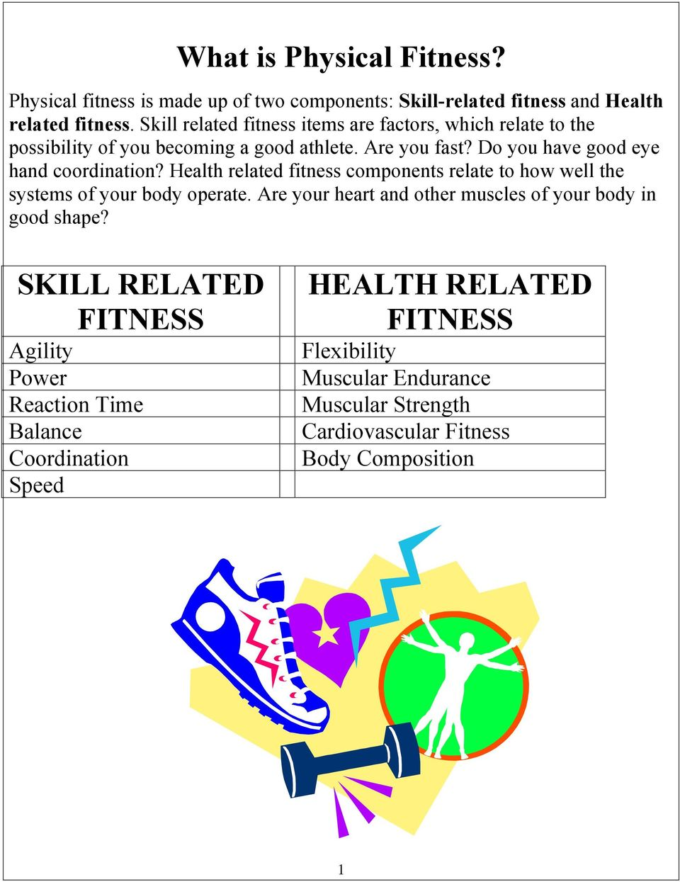 Do you have good eye hand coordination? Health related fitness components relate to how well the systems of your body operate.