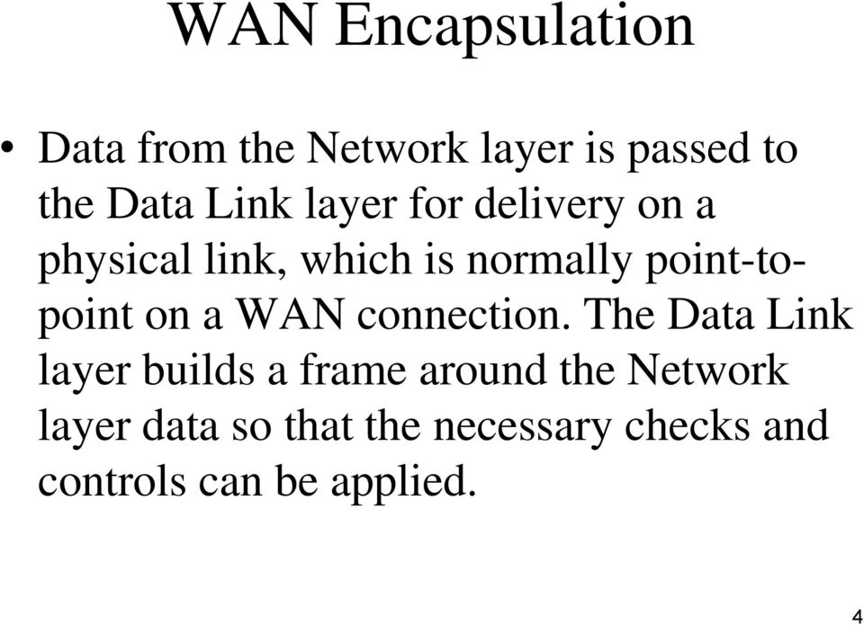 on a WAN connection.