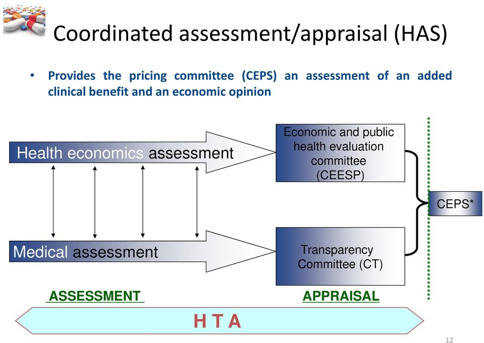 economics assessment Economic and public health evaluation committee (CEESP)