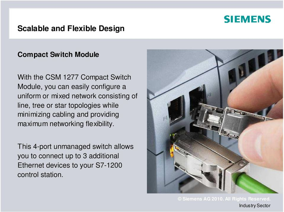 topologies while minimizing cabling and providing maximum networking flexibility.