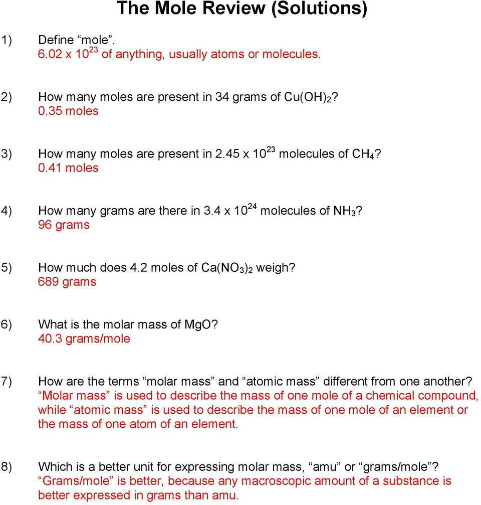 Worksheet 7 Math Skills Converting Amount To Mass - honors ...