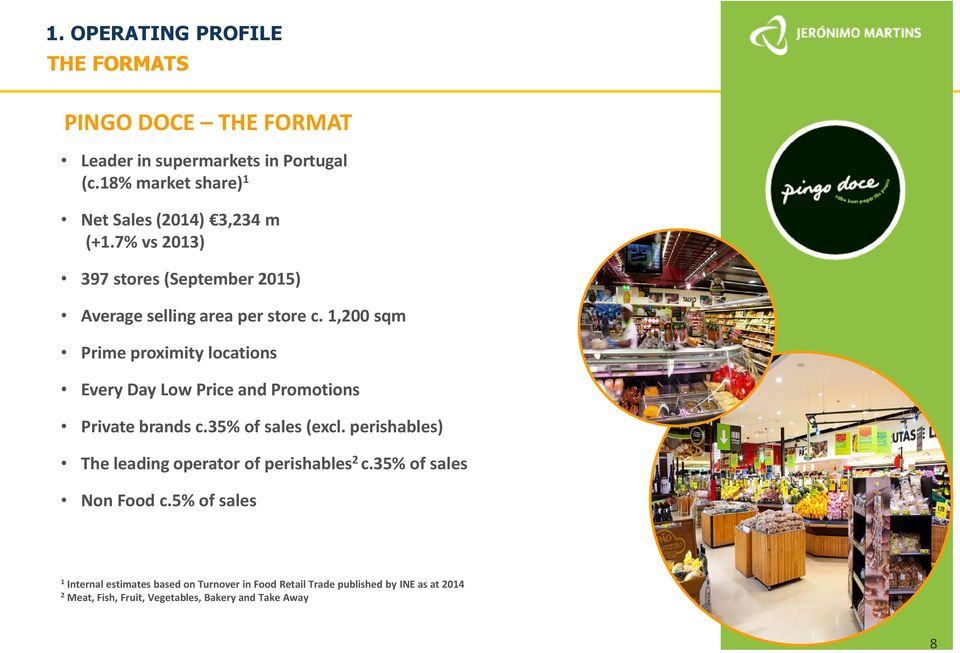 1,200 sqm Prime proximity locations Every Day Low Price and Promotions Private brands c.35% of sales (excl.