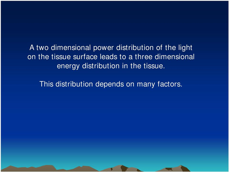 dimensional energy distribution in the
