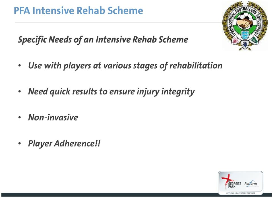 stages of rehabilitation Need quick results to