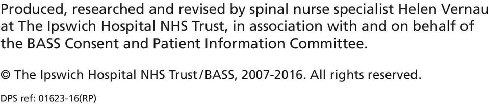 the BASS Consent and Patient Information Committee.