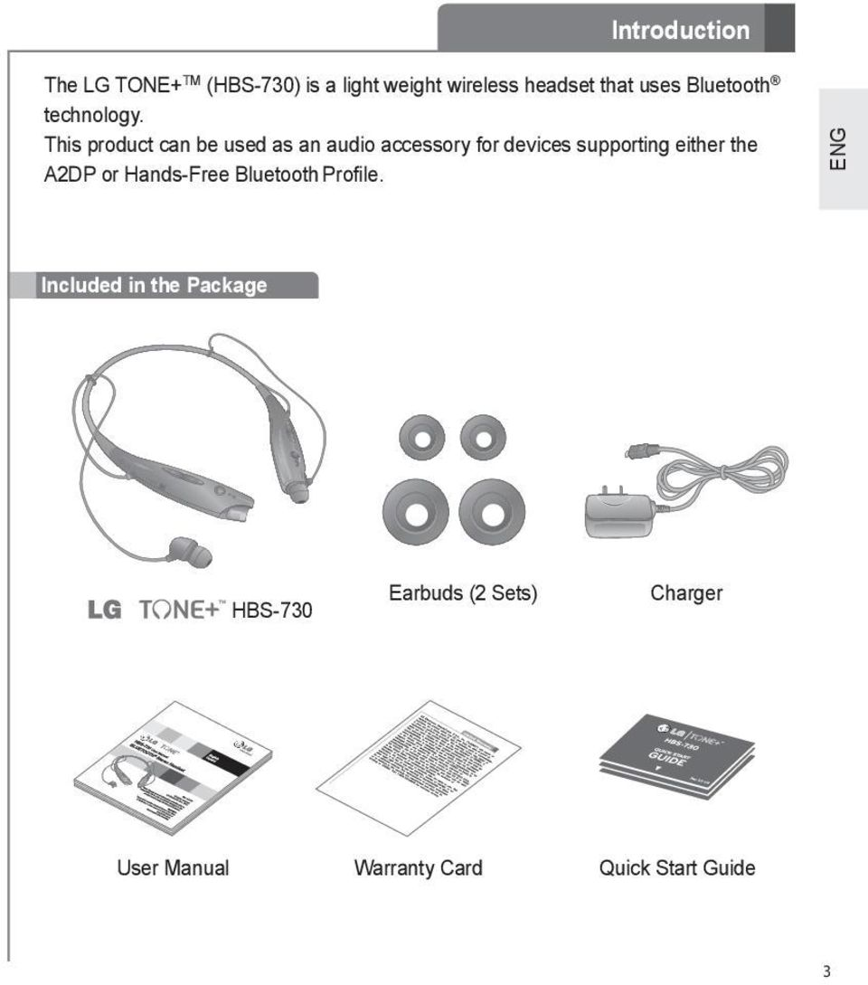 Hbs 730 User Manual Bluetooth Stereo Headset Pdf Lg Tone This Product Can Be Used As An Audio Accessory For Devices Supporting Either The