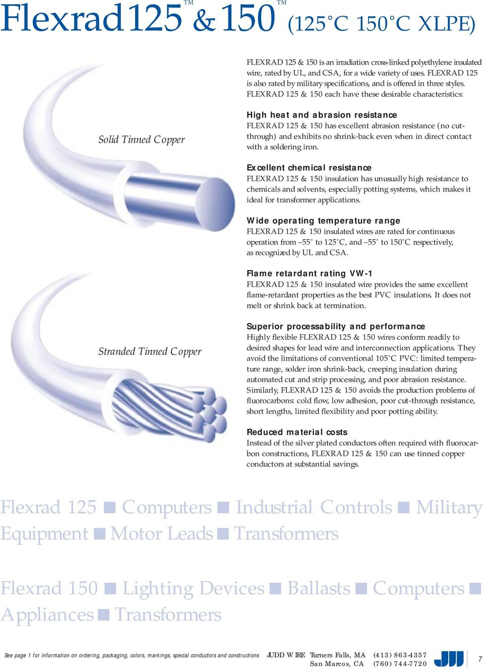 A quick product finder for commercial applications JUDD WIRE INC. A ...