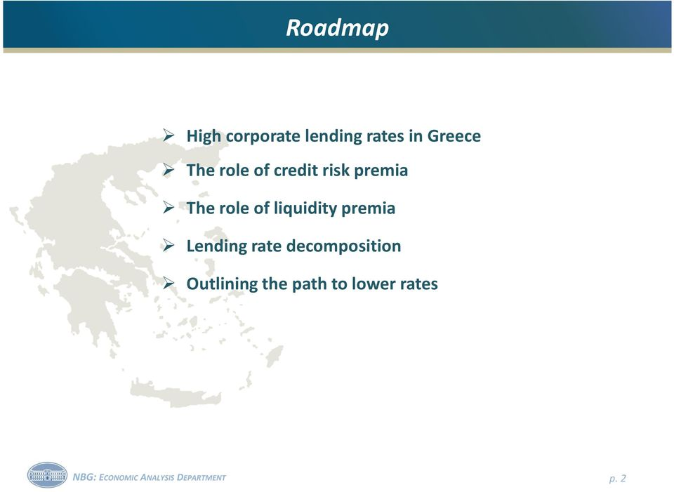 premia Lending rate decomposition Outlining the