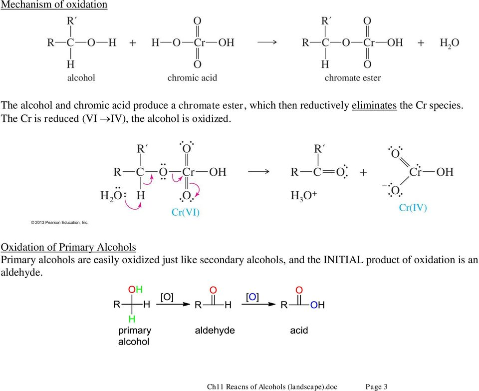 Oxidation of Primary Alcohols Primary alcohols are easily oxidized just like secondary