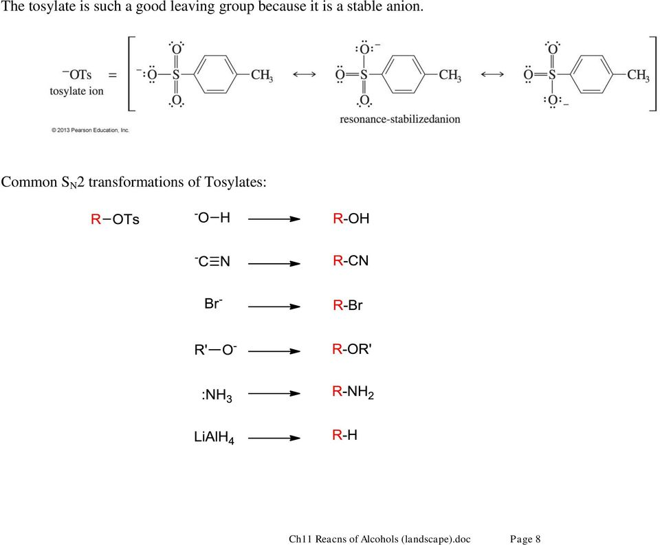 Common S N 2 transformations of