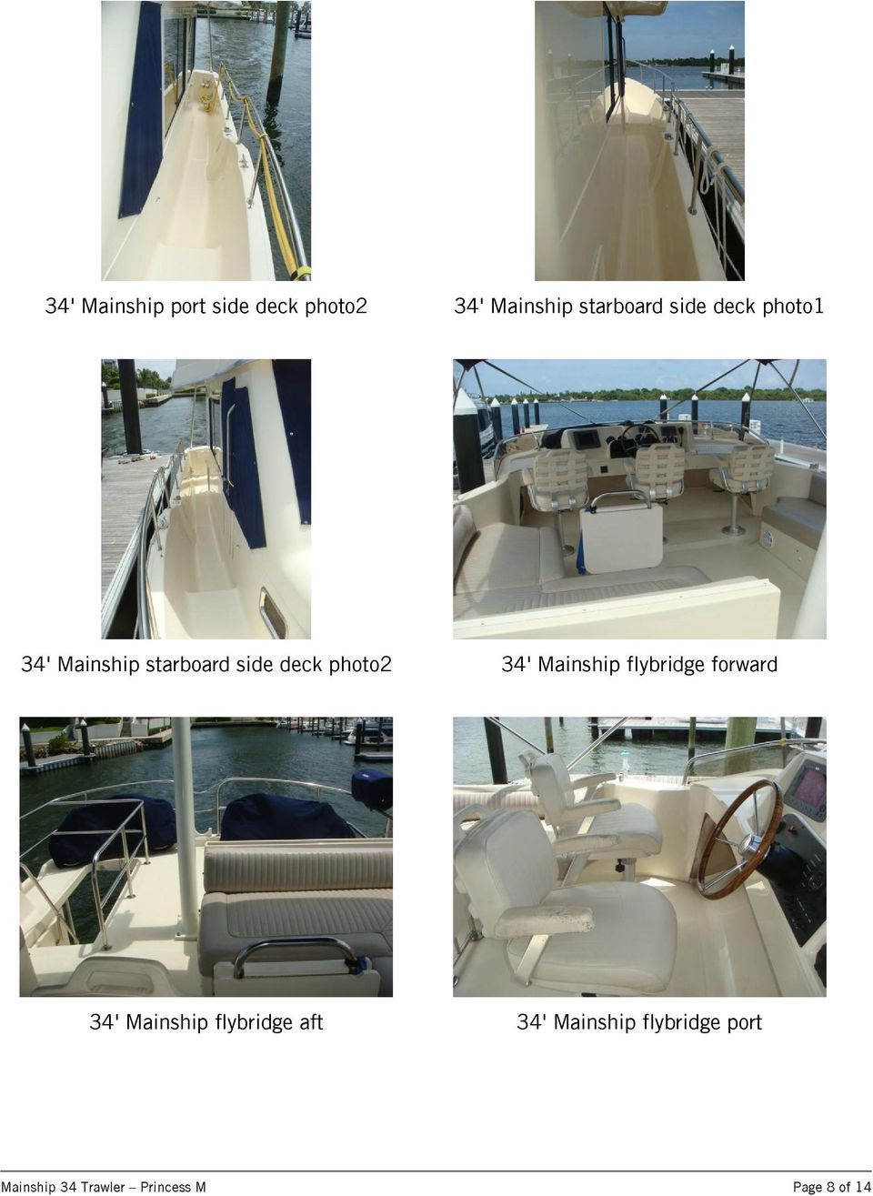 Mainship flybridge forward 34' Mainship flybridge aft 34'