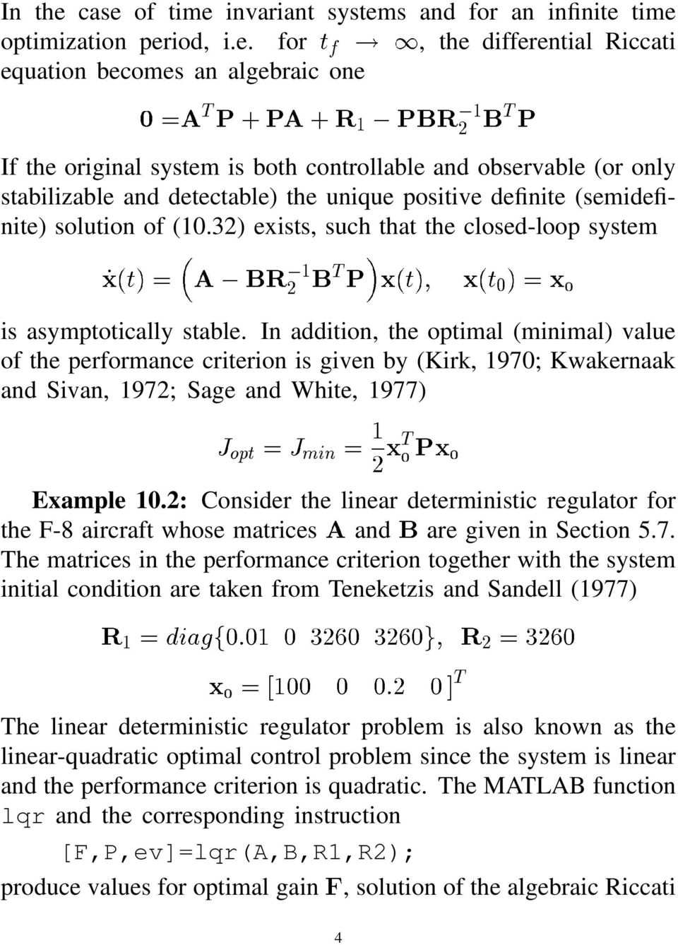 "32) exists, such that the closed-loop system! "" # $ is asymptotically stable."