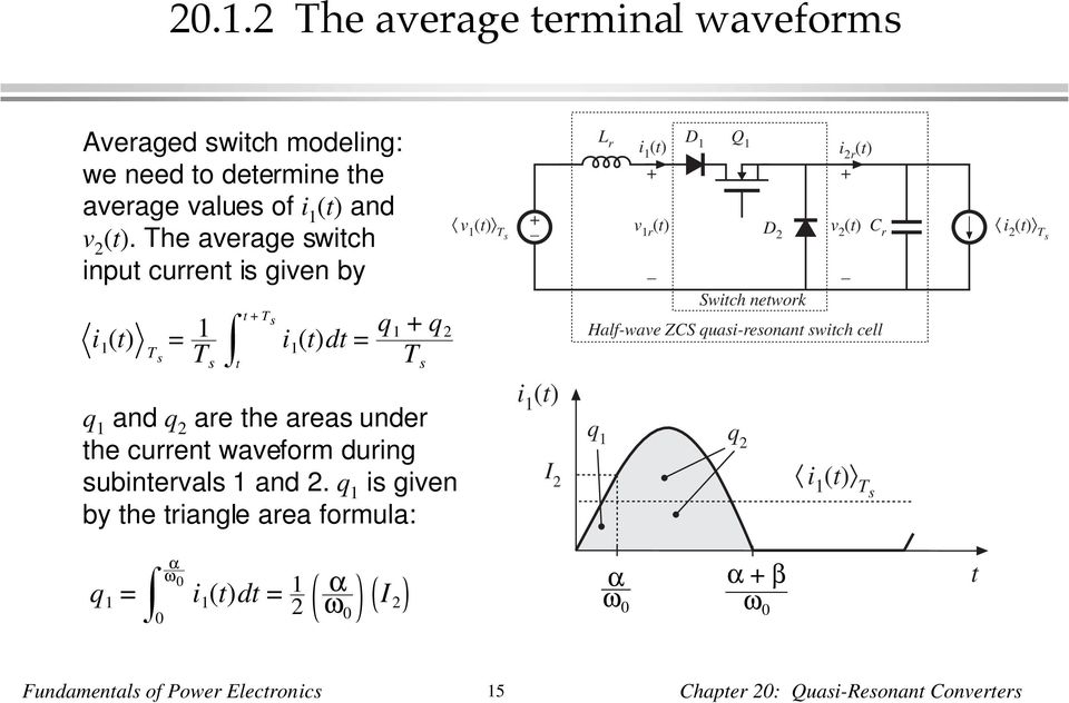 q are the areas under the current waveform during subintervals 1 and.