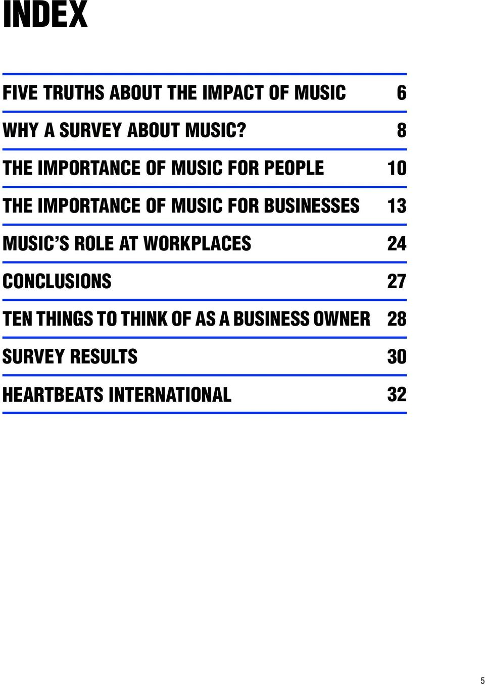 BUSINESSES MUSIC S ROLE AT WORKPLACES CONCLUSIONS TEN THINGS TO THINK OF
