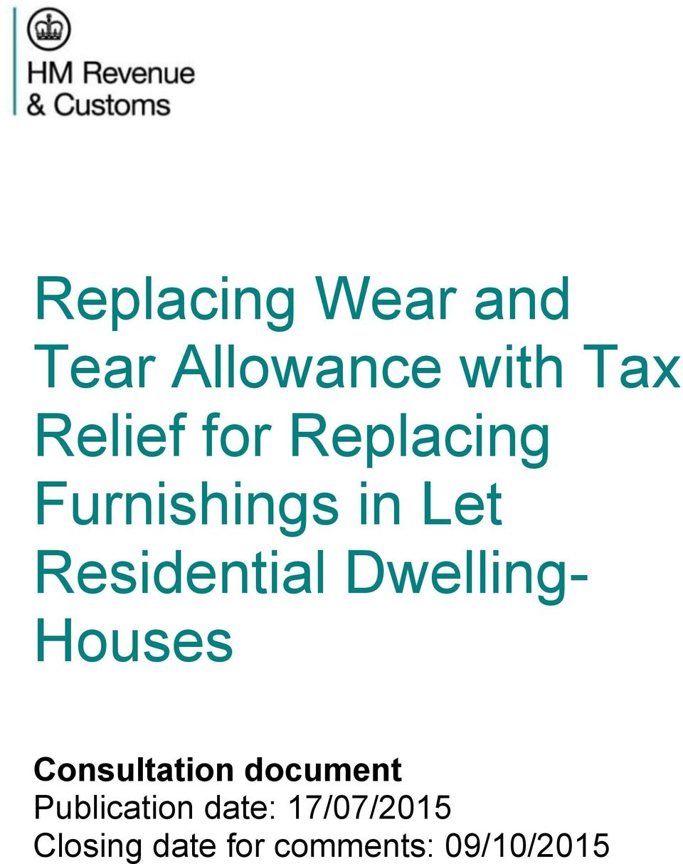 Dwelling- Houses Consultation document