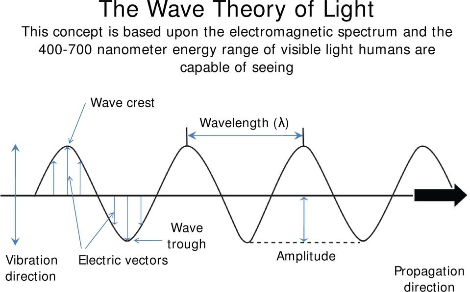visible light humans are capable of seeing Wave crest Wavelength