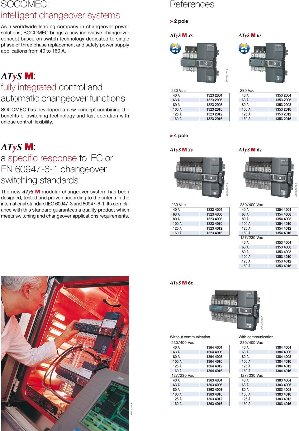 Single And Three Phase Modular Automatic Transfer Switch From 40 To On 3 Wiring References 2 Pole Atys M 3s 6s Fully Integrated Control The Ats