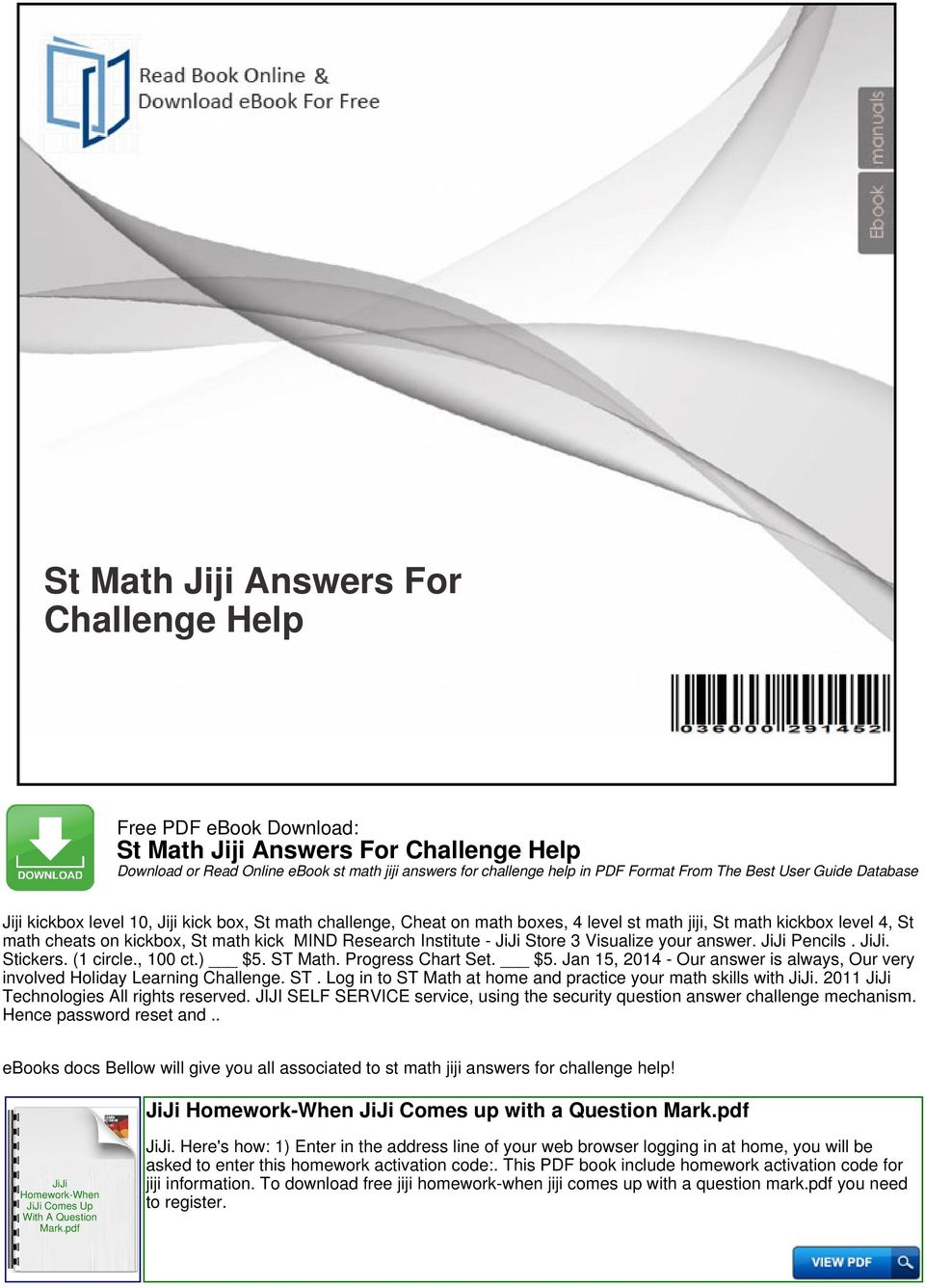 St Math Jiji Answers For Challenge Help - PDF