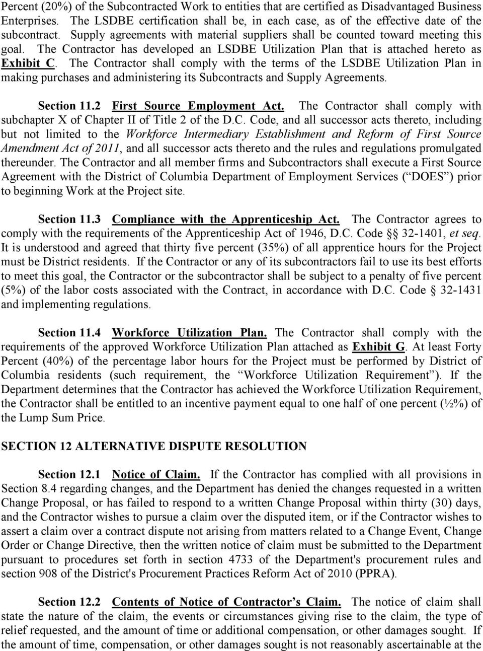 GOVERNMENT OF THE DISTRICT OF COLUMBIA DEPARTMENT OF