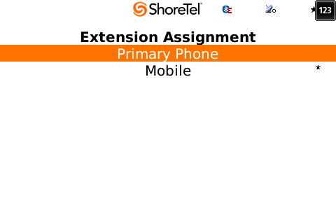 Configuring Extension Assignments ShoreTel Communicator for Mobile Configuring Extension Assignments This page is used to define and set Extension Assignment numbers.