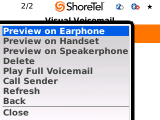 Viewing Voice Mail ShoreTel Communicator for Mobile Managing Voicemail Entries You can use your mobile device to listen to and disposition voicemail entries in your ShoreTel mailbox.