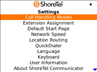Configuring Settings ShoreTel Communicator for Mobile Configuring Settings The Settings option is used to configure options for ShoreTel Communicator for Mobile or your device.
